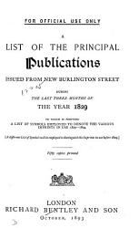A List of the Principal Publications Issued from New Burlington Street PDF