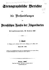 Verhandlungen: Stenographische. Berichte über die Verhandlungen