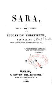 Sara ou les heureux effets d'une éducation chrétienne