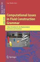Computational Issues in Fluid Construction Grammar PDF