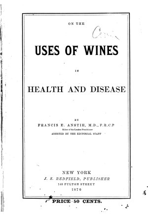 On the Uses of Wines in Health and Disease