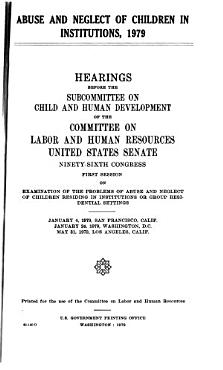 Abuse and Neglect of Children in Institutions  1979 PDF