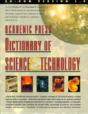 Academic Press Dictionary of Science and Technology Cd Rom Version 1 0 PDF