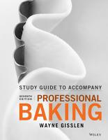 Student Study Guide to accompany Professional Baking PDF