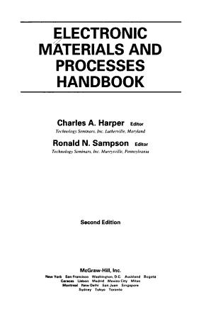 Electronic Materials and Processes Handbook PDF