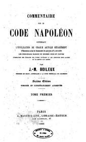 Commentaire sur le code napoleon: 1