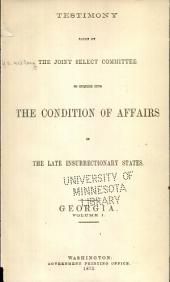 Report of and Testimony: Volume 6