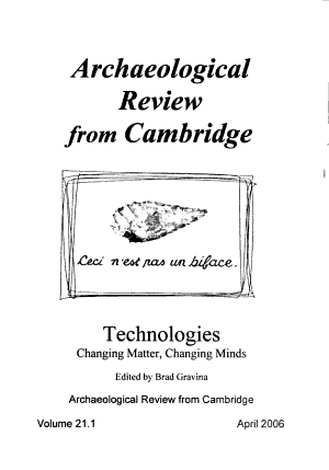 Archaeological Review from Cambridge