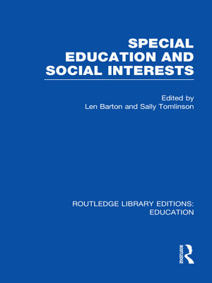Special Education and Social Interests  RLE Edu M  PDF