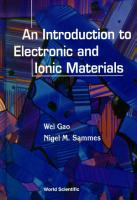 An Introduction to Electronic and Ionic Materials PDF