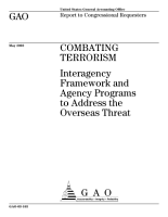 Combating terrorism interagency framework and agency programs to address the overseas threat  PDF