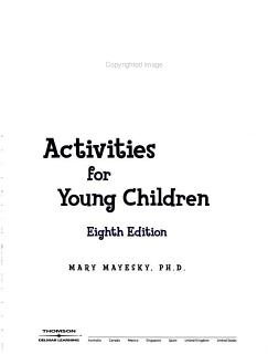 Creative Activities for Young Children Book