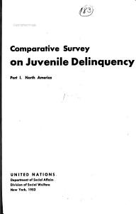 Comparative Survey on Juvenile Delinquency PDF
