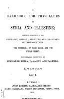 A Handbook for Travellers in Syria and Palestine     PDF