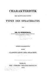 Charakteristik der hauptsächlichsten typen des sprachbaues