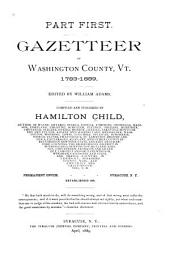 Gazetteer of Washington County, Vt., 1783-1889