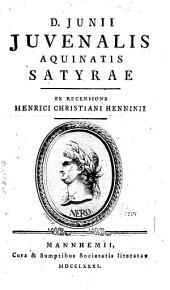 Juvenalis, Persii et Sulpiciae Satyrae