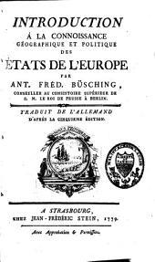 Introduction à la connaissance géographique et politique des états de l'Europe