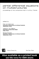 Partial Differential Equations On Multistructures PDF