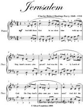 Jerusalem Easy Piano Sheet Music