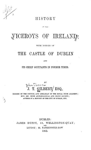 History of the Viceroys of Ireland PDF