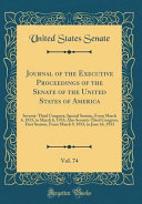 Journal of the Executive Proceedings of the Senate of the United States of America  Vol  74 PDF