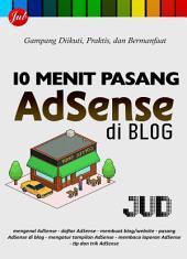 10 Menit Pasang AdSense di Blog