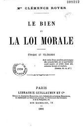 Le bien et la loi morale: éthique et téléologie