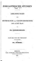 Zoroastrische Studien PDF