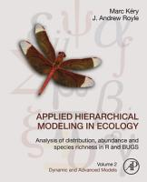 Applied Hierarchical Modeling in Ecology  Analysis of Distribution  Abundance and Species Richness in R and BUGS PDF