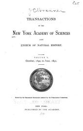 Transactions of the New York Academy of Sciences: Volume 10
