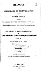 Reports of the secretary of the Treasury of the United States: Volume 1