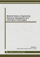 Material Science  Engineering Research  Management and Information Technologies PDF