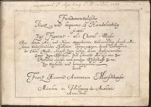 Fundamentalische kurz und bequeme Handtleithung so wohl zur Figurat  als Choral Music PDF