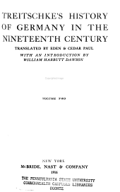 Treitschke's History of Germany in the Nineteeth Century: The beginnings of the Germanic federation, 1814-1819