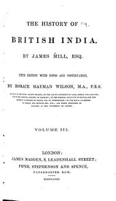The History of British India: Volumes 3-4