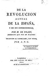 De la revolución actual de la España y de sus consecuencias