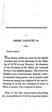 A Short Account of the Life of ... Sir Joseph Banks ... Read at the fortieth anniversary festival of the Harveian Society of Edinburgh, etc