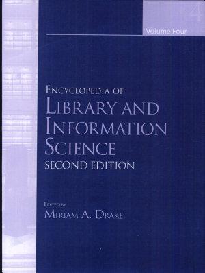 Ency of Library and Inform Sci 2e V4  Print  PDF
