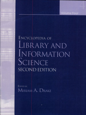 Ency of Library and Inform Sci 2e V4  Print