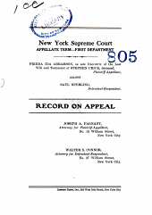 New York Supreme Court Appellate Term-First Department