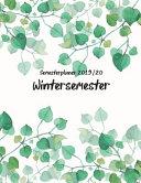 Semesterplaner Wintersemester 2019 20 PDF