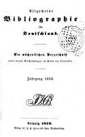 Allgemeine Bibliographie f  r Deutschland PDF