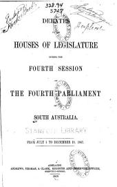 Debates in the Houses of Legislature: Volume 4, Issue 4