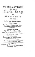 Observations on the Florid Song PDF