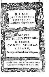 Rime del sig. Ascanio Pignatello caualiero napoletano. Dedicate al ... conte Sforza Bissaro ..