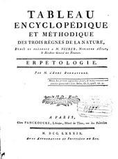 Tableau encyclopédique et méthodique des trois règnes de la nature ...: Erpétologie