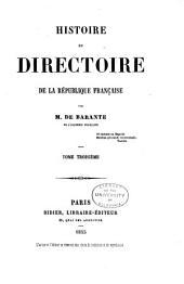 Histoire du directoire de la République Française: Volume3