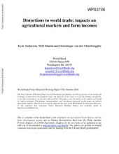 Distortions to World Trade: Impacts on Agricultural Markets and Farm Incomes