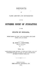 Reports of Cases Argued and Determined in the Supreme Court of Judicature of the State of Indiana: Volume 121